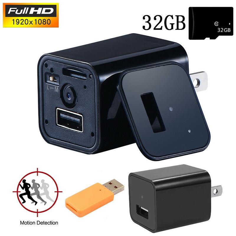 Mini HD 1080P Camera USB Wall Charger Video Recorder Surveil