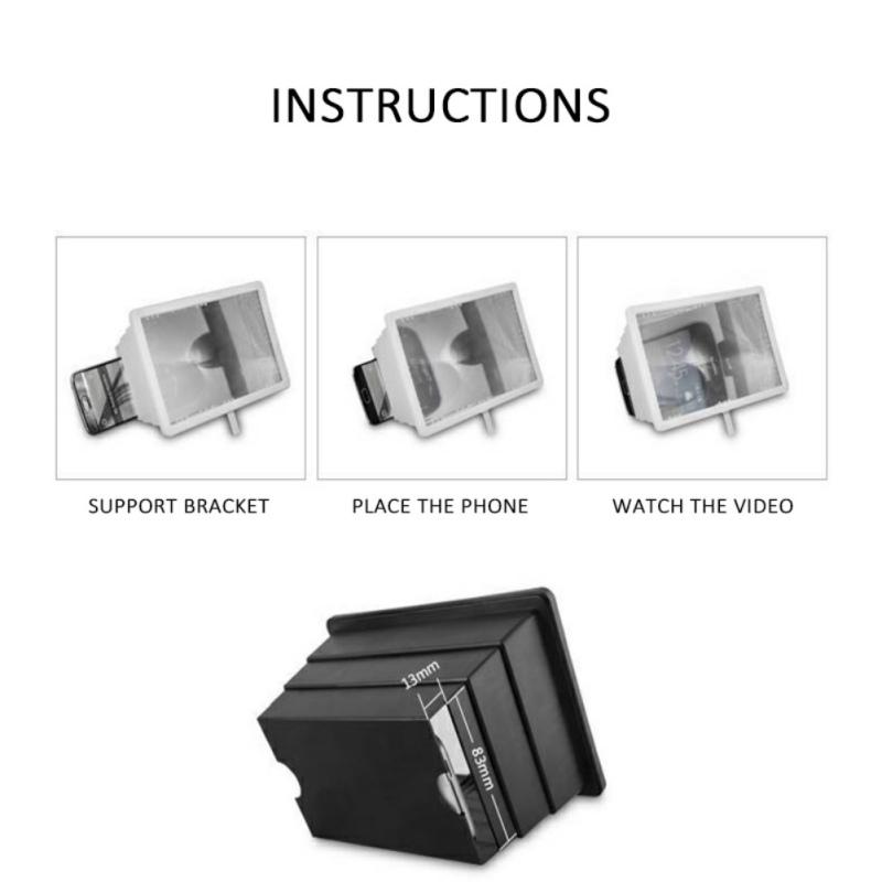 thumbnail 3 - 3D Folding Cell Phone HD Screen Magnifier Video Amplifier Stand Brackets Holder