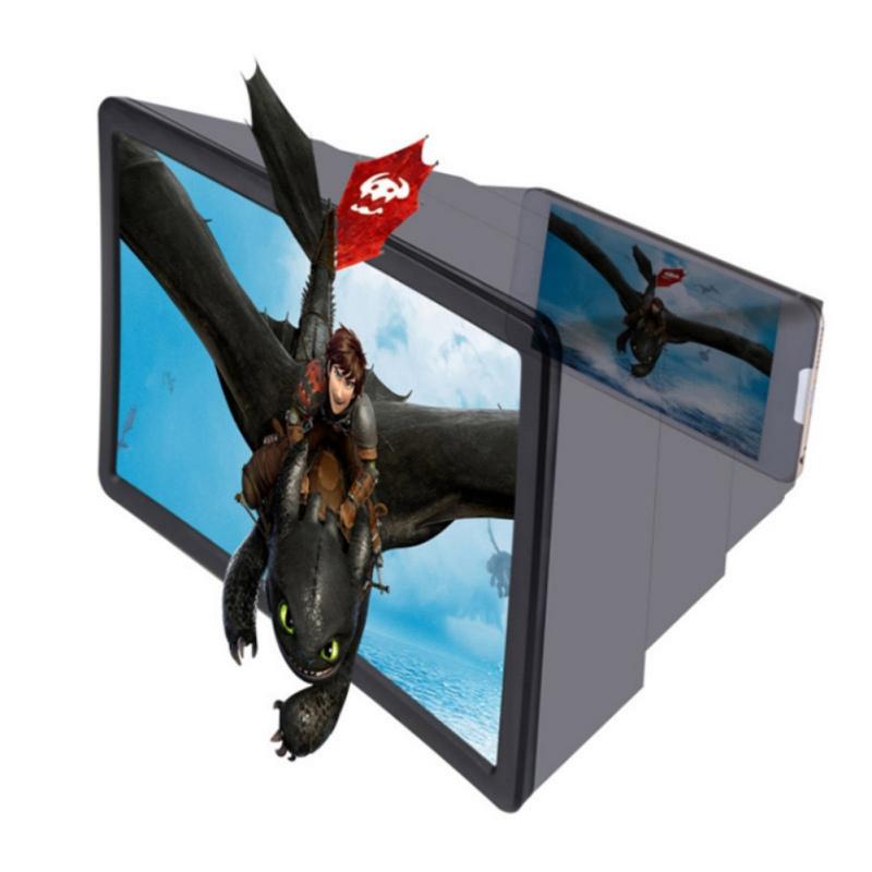 thumbnail 5 - 3D Folding Cell Phone HD Screen Magnifier Video Amplifier Stand Brackets Holder