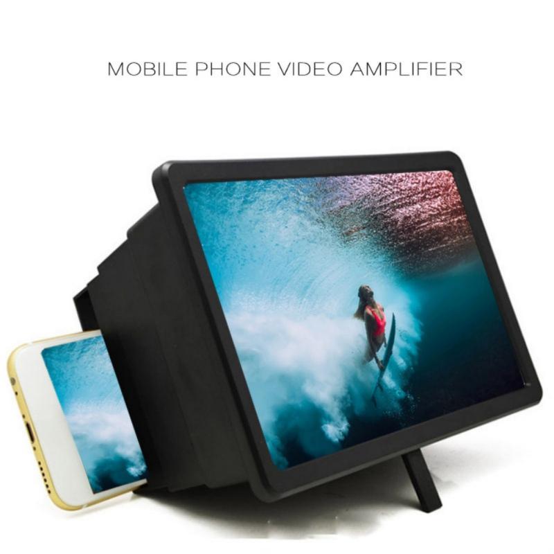 3D Folding Cell Phone HD Screen Magnifier Video Amplifier Stand Brackets Holder